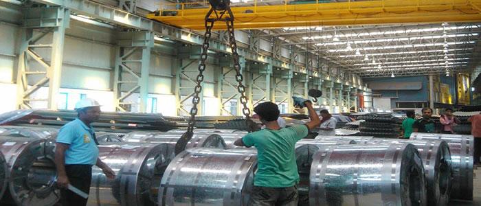 Overhead Crane Operator Course : Bridge cranes used in steel coil plant case