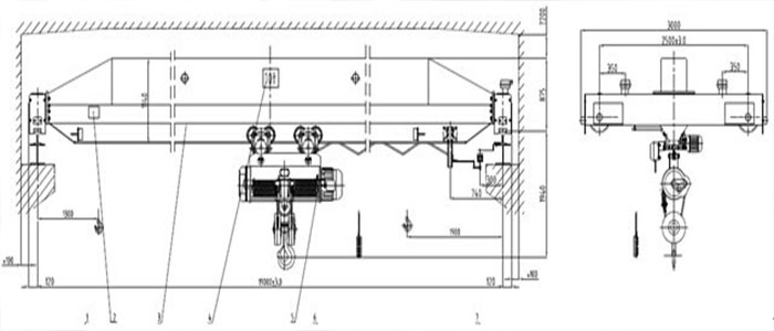 Single Girder Eot Crane Drawing : Overhead crane solution for sandwich panel plant