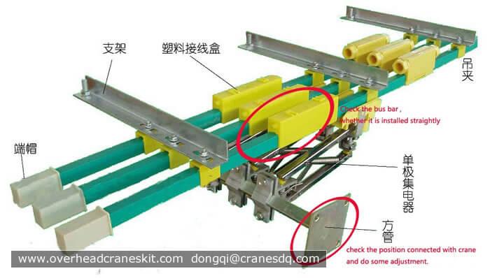 Overhead Crane Busbar System : Overhead crane power line system busbar