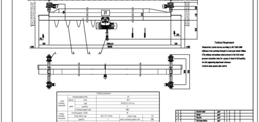 Single Girder Eot Crane Drawing : Overhead crane drawing