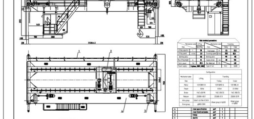 Overhead Crane Autocad Drawing : Overhead crane drawing