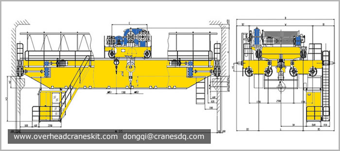 Dongqi Ladle Crane, 30T/50T/74T, for Lifting Molten Metal
